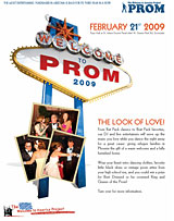 Welcome to America Project - Prom 2009 Flyer